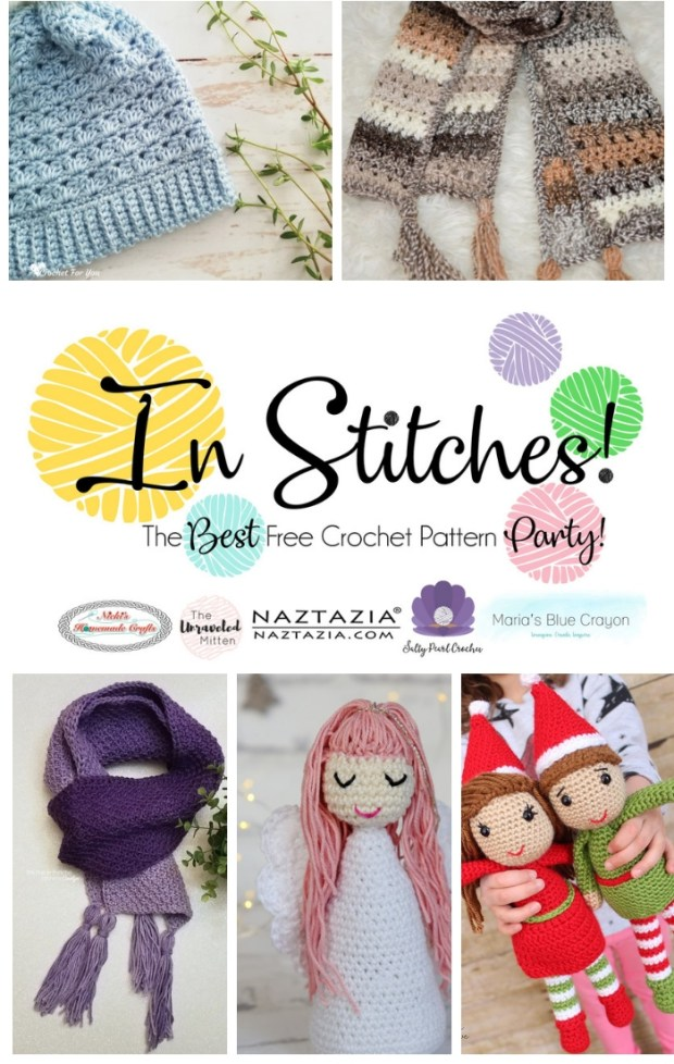 In Stitches Free Crochet Pattern Link Party #26 | The Unraveled Mitten