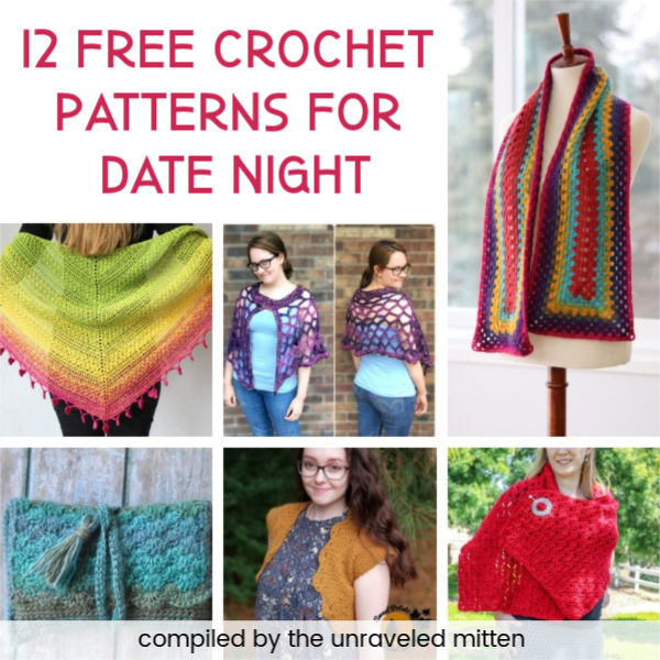 12 Free Crochet Patterns for Date Night | A Round Up on The Unraveled Mitten