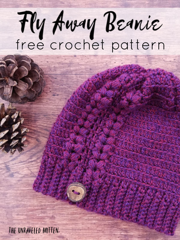 Fly Away Beanie   Free Crochet Pattern   The Unraveled Mitten   Toddler, child and adult sizes!