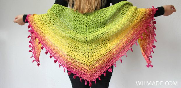 Lovely Luisa Shawl by Wilmade | Free Crochet Pattern | part of a round up on The Unraveled Mitten