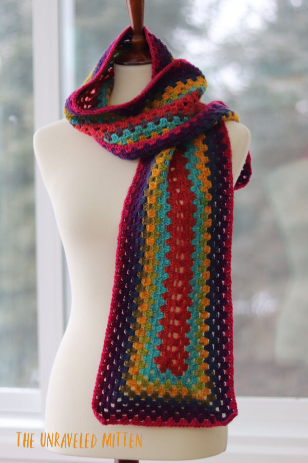 Not Just for Granny Scarf   Free Crochet Pattern   The Unraveled MItten