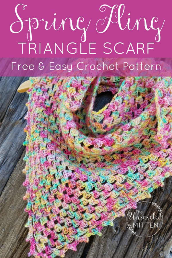 Spring Fling Shawlette | Free Crochet Pattern | The Unraveled MItten