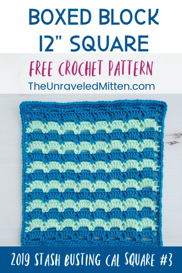 """Boxed Block Crochet Stitch 