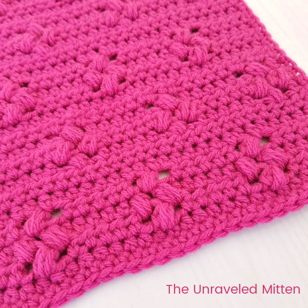 Tiny Flower Crochet Stitch Tutorial | The Unraveled Mitten