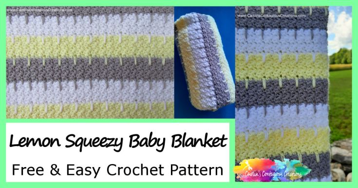 Lemon Squeezy Baby Blanket Free Crochet Pattern