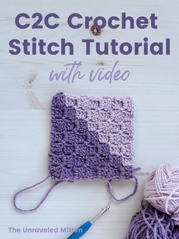 Master the corner to corner (c2c) crochet stitch with this video tutorial!