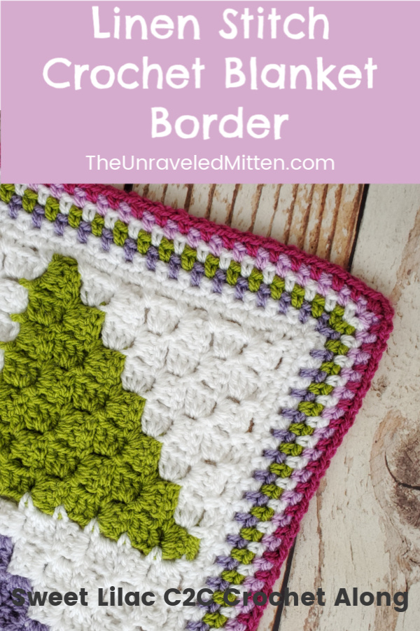 Linen Stitch Crochet Blanket Border