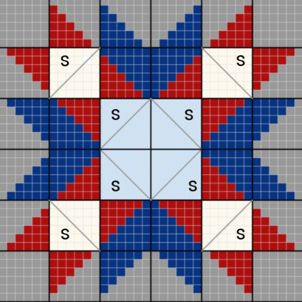 Star Throw Blanket Layout