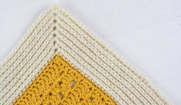 Camel Stitch Border on a Crochet Blanket