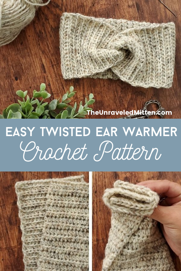 This easy crochet headband pattern is worked flat using a simple crochet ribbing and then seamed together with a little twist. It makes for a quick weekend project and is great for gift giving!