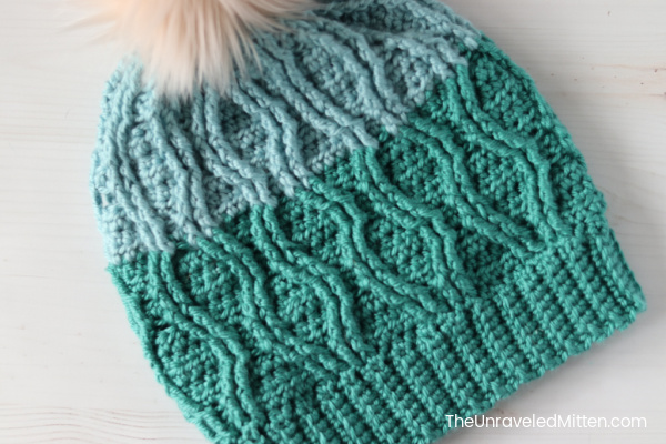 Straits Cable Slouchy Hat Crochet Pattern Featured Photo