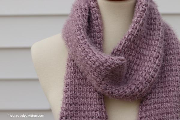 Easy Tunisian Crochet Scarf Pattern