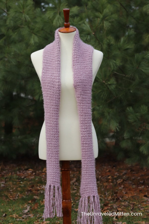 Easy Tunisian Crochet Scarf