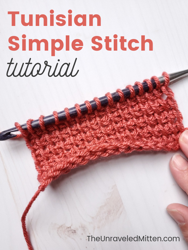 Tunisian Simple Stitch Tutorial