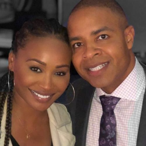 Mike Hill met Cynthia Bailey on The Steve Harvey Show