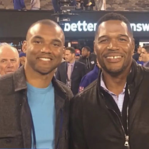 Michael Strahan continues to be a mentor for Brandon.