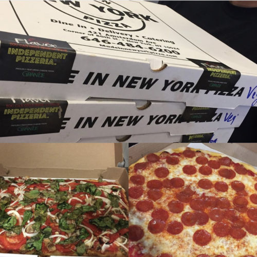 The Unsealed community bought pizza from Made In New York for teens at the Ali Forney Center.