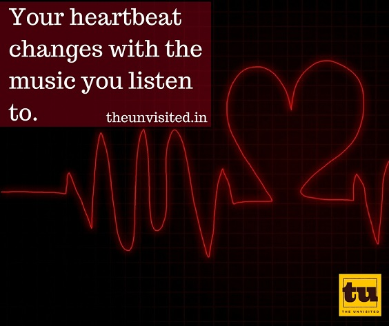 Your heartbeat changes with the music you listen to