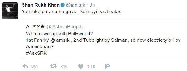 the unvisited Shahrukh Khan once again wins our heart in AskSRK session by his witty replies