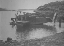 One of three Loening Amphibians used during the expedition as the crew prepares to take flight.