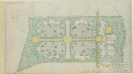 Revised Preliminary Plan for Grounds at Oise-Aisne American Cemetery, 1923
