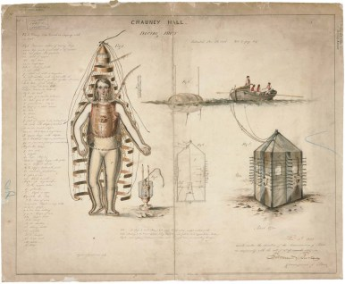 Chauncy Hall's Diving Dress https://catalog.archives.gov/id/594916