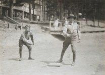 "One-armed baseball team, Walter Reed Hospital. ""Foul ball, Strike two."" 165-WW-255A-86"