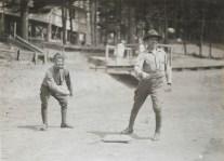 "One-armed baseball team, Walter Reed Hospital. ""Foul ball, Strike two."" 165-WW-255A-86"