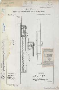 B. Hill's Spring Attachments for Fishing Rods https://catalog.archives.gov/id/6277641