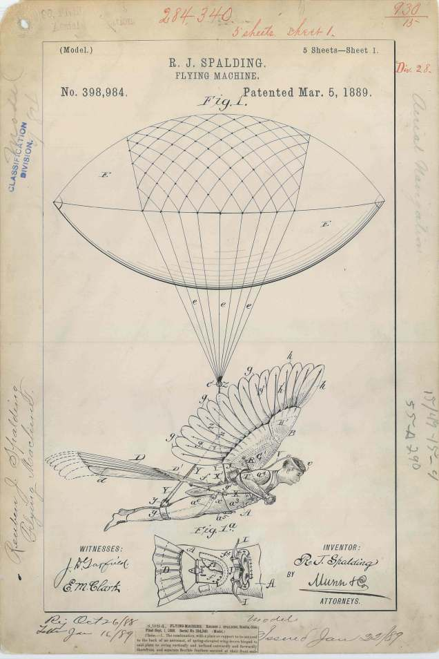 R. J. Spalding's Flying Machine https://catalog.archives.gov/id/6277786