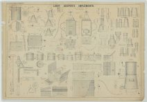 RG26: ZZ, Standard Apparatus Plans; Vol. 19, Plate 97. Light Keeper's Implements, 1862.