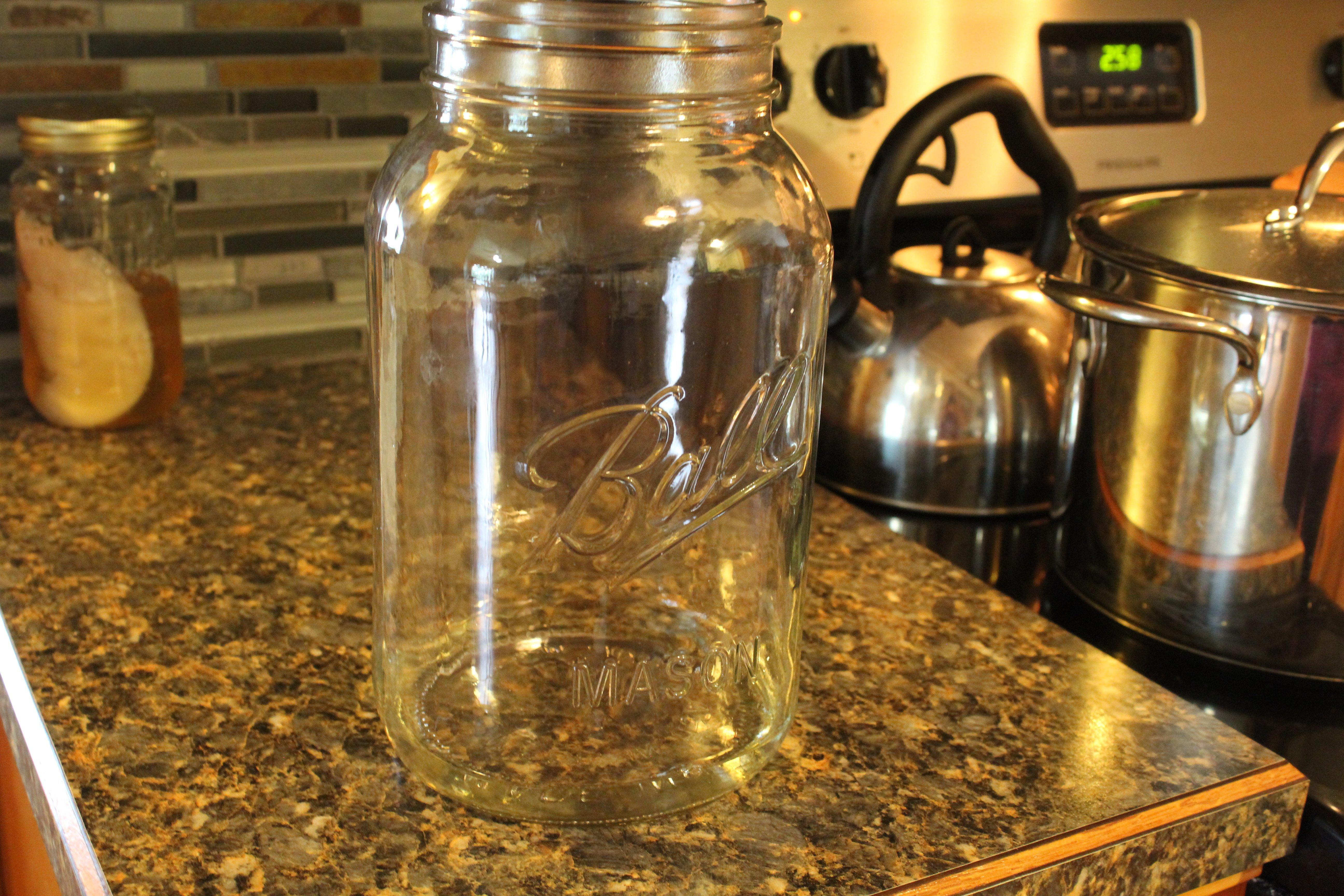 Large gallon size glass jar for Kombucha brewing