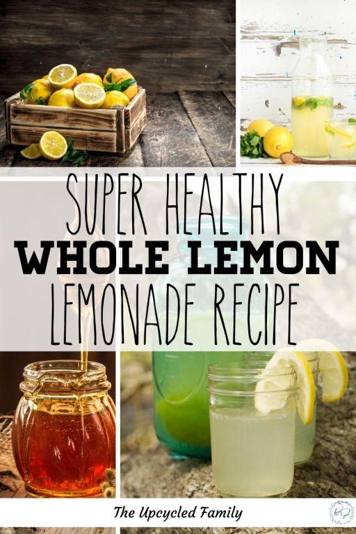 super healthy whole lemon lemonade recipe with honey