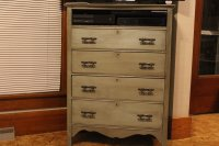 DIY antique dresser makeover, save money reuse old furniture