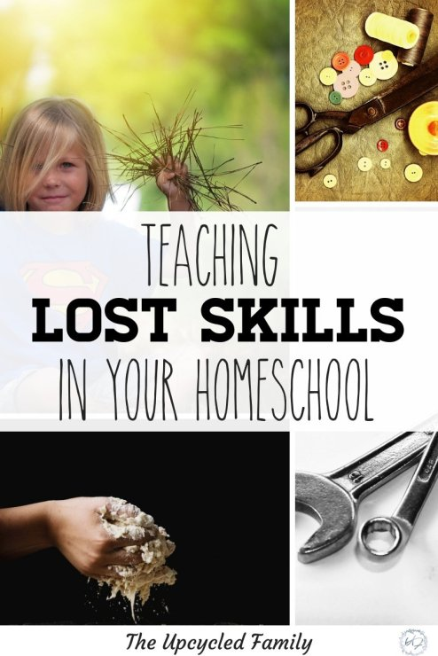 Want to take your kid's knowledge to the next level in your homeschool? Teaching lost skills. 16 old-fashioned, vintage skills, life skills, homestead skills & traditional skill to boost your homeschool experience! #homeschool #homeschoolskills #lifeskills #vintageskills #lostskills #oldfashionedskills #homesteadskills #traditionalskills
