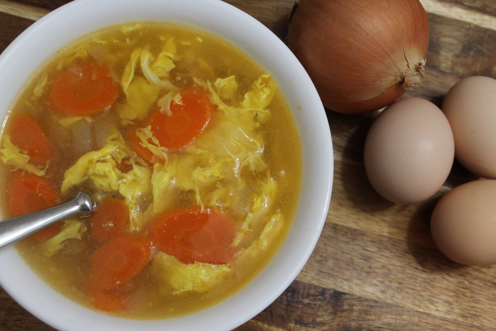 Homestyle egg drop soup