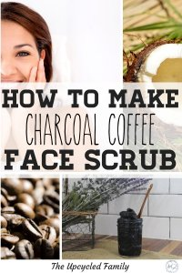 Easy DIY face scrub. This simple scrub is exfoliating and detoxifying and made with ingredients you most likely have in your kitchen right now! #diyfacescrub #coffeefacescrub #coconutoilfacescrub #sensitiveskin #activatedcharcoal #skindetox