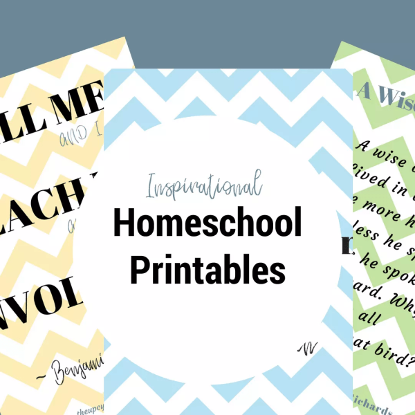 homeschool inspiration printables