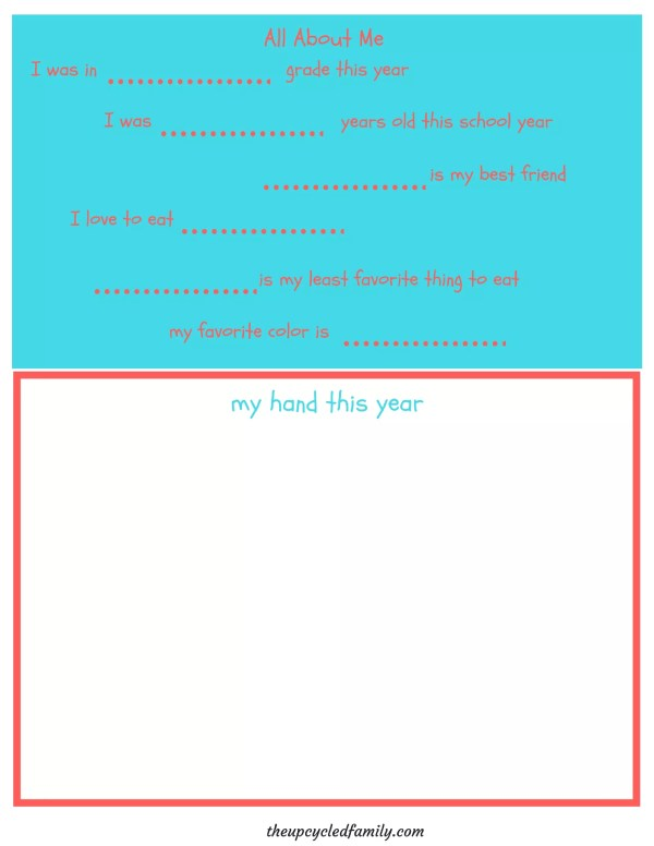 My Homeschool Year Memory Book