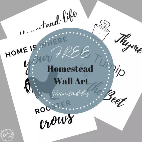 Homestead farmhouse wall art
