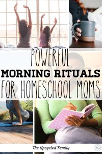Being a homeschool mom is no easy job, but it doesn't have to mean setting aside everything else in life. The big secret to a successful homeschool and still having a life that you find fulfilling. #homeschoolmomschedule #homeschoolmom #morningroutine #morningrituals #homeschoolsuccess #homeschoolmorningtime #homeschoolingmom #homeschooling