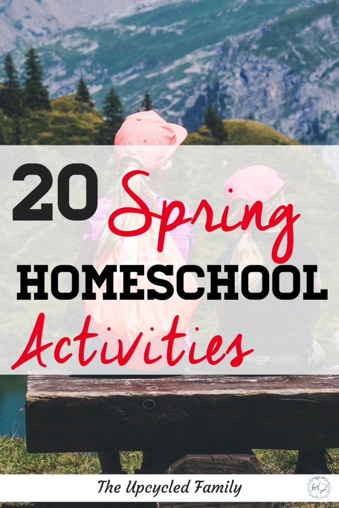 Feeling a little Cabin Fever? A big list of 20 Spring Homeschool Activities, from preschool to teens. Get into spring and out into nature from arts and crafts to nature unit studies and more. #spring #homeschool #springhomeschoolactivities #springhomeschoolpreschool #springhomeschoolunit #springactivities #springcrafts #homeschoolactivities
