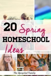 Feeling a little Cabin Fever? A big list of 20 Spring Homeschool Ideas, from preschool to teens. Get into spring and out into nature from arts and crafts to nature unit studies and more. #spring #homeschool #ideas #springhomeschoolideas #springhomeschoolactivities #springhomeschoolpreschool #springhomeschoolunit #springactivities #springcrafts #homeschoolideas