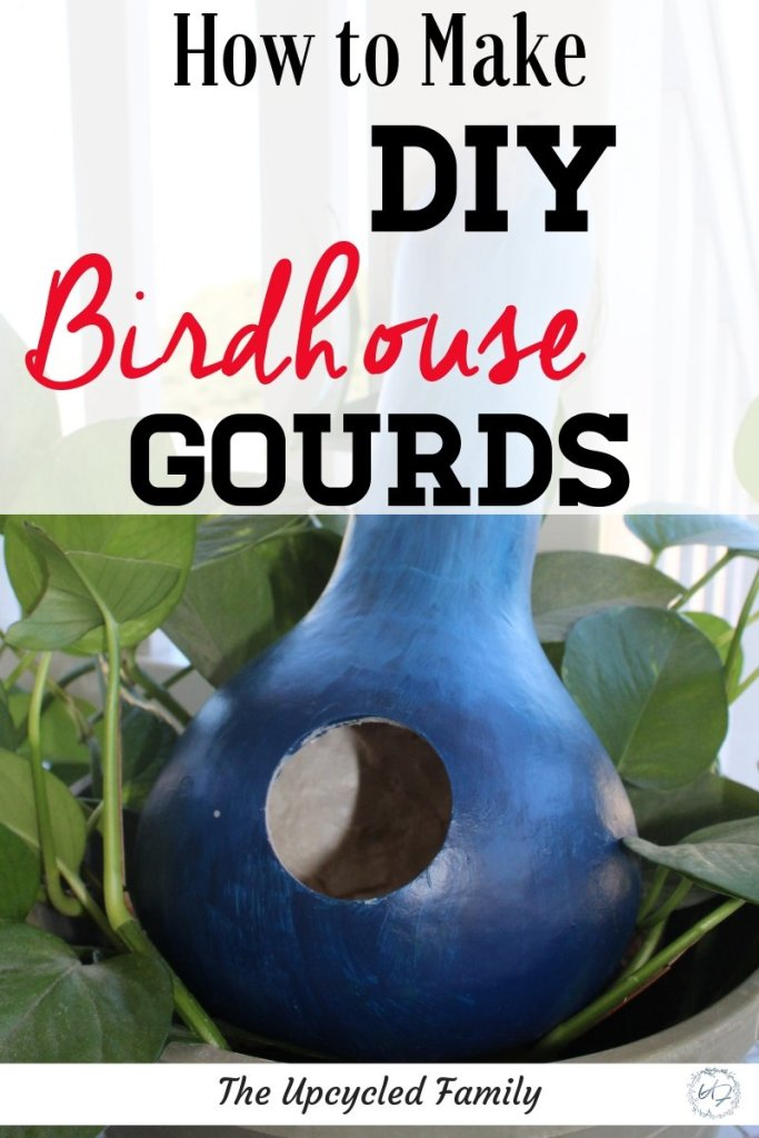 Love the idea of using nature for arts and crafts? How to Make birdhouse gourds. This easily grown gourd becomes an even easier to make wildlife loving birdhouse. #birdhousegourds #ideas #DIY #crafts #fun #home #gourds #painted #birdhouses #sustainability #projects #homemadebirdhouses #gourdbirdhouses #gourdbirdhousesDIY