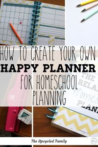 Can't find a homeschool planner that works for you? Make a simple and attractive DIY homeschool planner on the happy planner framework. Customize a cute and functional homeschool planner to fit your homeschool life perfectly. #homeschoolplanner #DIY #printable #best #secular #ideas #happyplanner #simple #bulletjournal #notebook