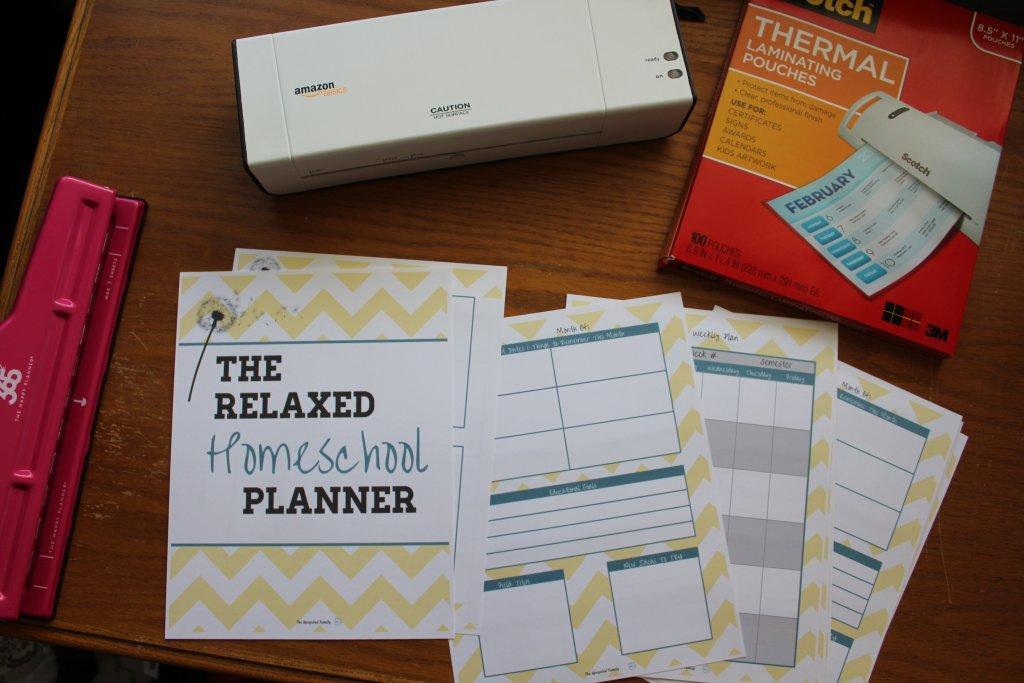 making a DIY homeschool planner