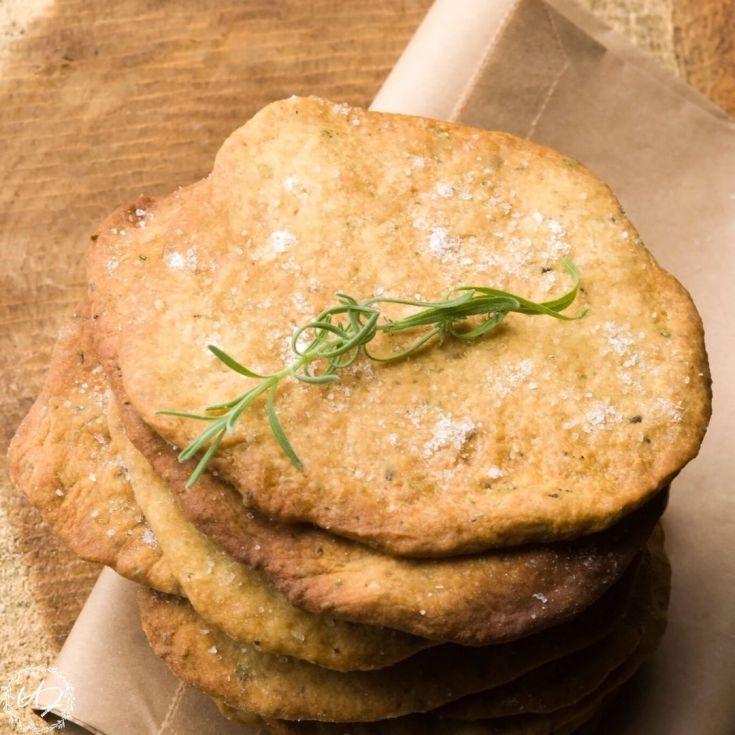 Olive Oil & Rosemary Sourdough Cracker Recipe