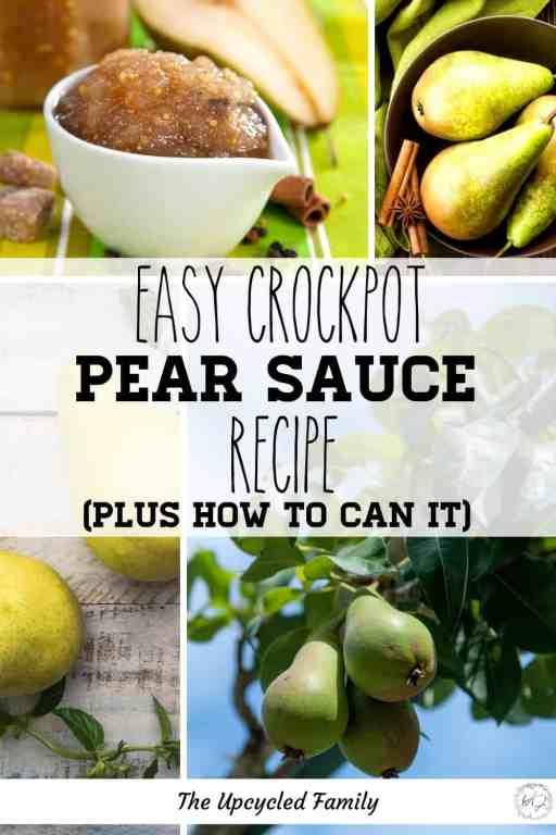 Crock Pot Pear Sauce Recipe