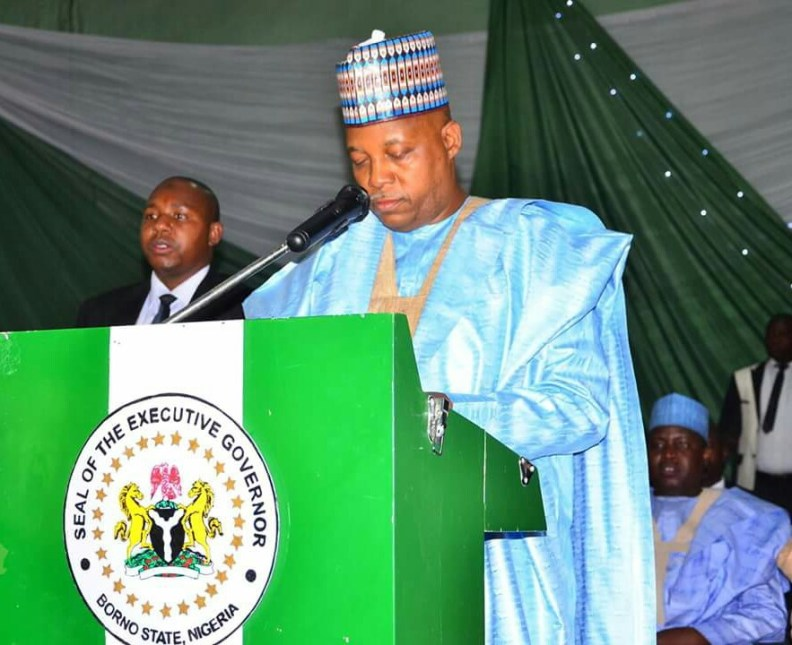 Governor Shettima Swears In New Caretaker Chairmen..