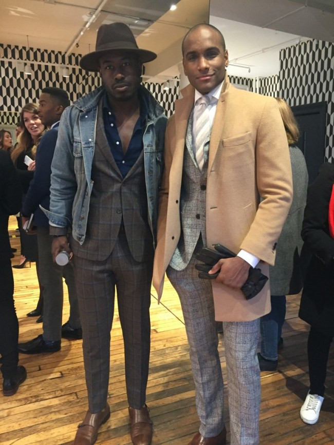 Justin Great and Pierre Woods Suit Supply New York Mens Fashion Week 2016 NYFWM